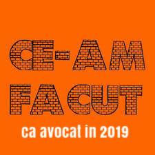 """Lansare carte - """"Ce-am facut ca avocat in 2019 """" COLTUC MARIUS VICENTIU"""